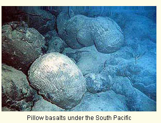 Pillow basalts on the south Pacific seafloor courtesy of NOAA